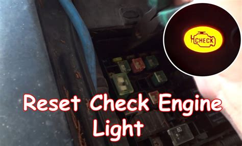 how to reset maintenance light on 2007 toyota camry diy reset check engine light without obdii reader youtube