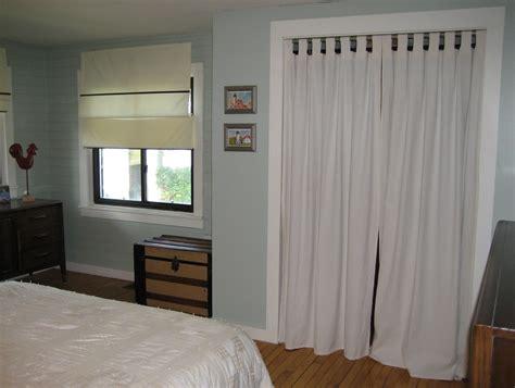 Curtain Rod Closet Door