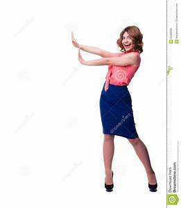 Woman Making Stop Sign Royalty-Free Stock Image ...