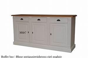 Buffet Bas Blanc : buffet pin 3 portes directoire ~ Teatrodelosmanantiales.com Idées de Décoration