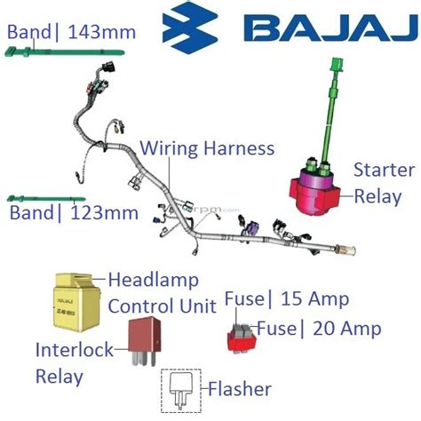 bajaj pulsar 200ns wiring harness and realys with fuses