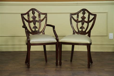 solid mahogany shield  chairs antique style dining room ch
