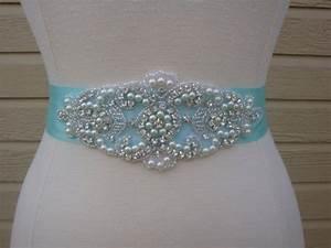 bridal sash wedding dress sash belt tiffany inspired With tiffany blue wedding dress sash