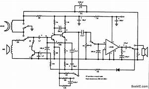 Tape Recorder - Electrical Equipment Circuit