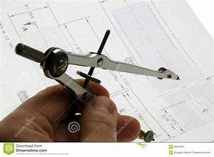 Compass Drawing Tool Stock Photo