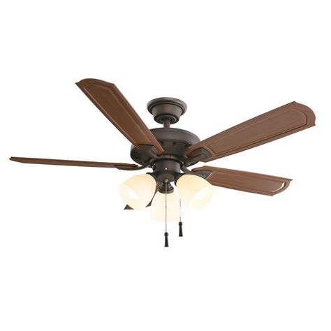 hton bay ceiling fan light shade replacement hton bay tucson 48 in oil rubbed bronze indoor outdoor