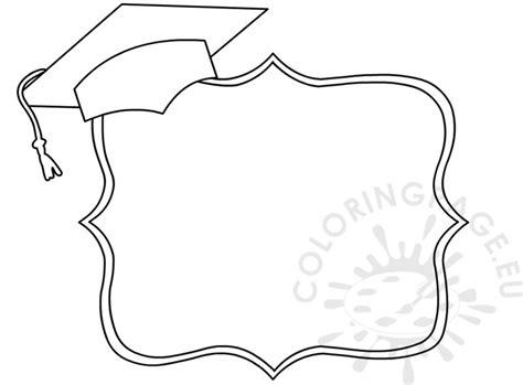 graduation decorative border template coloring page
