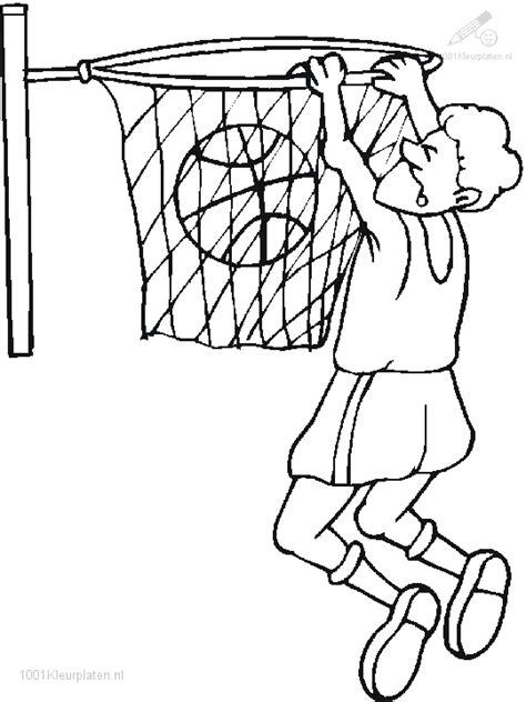 Kleurplaat Basketbal by Kleurplaat Basketbal