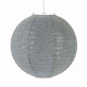 Boule En Papier : suspension luminaire boule en papier paillet gris ilona ~ Teatrodelosmanantiales.com Idées de Décoration