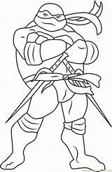 Raphael Coloring Ninja Turtles Pages Mutant Teenage Coloringpages101 sketch template