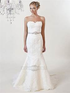 strapless mermaid sweetheart lace wedding dresses with With lace sweetheart wedding dress