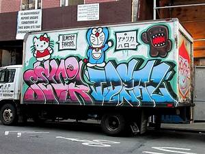 sevor and ideal graffiti on nyc truck With truck lettering brooklyn ny
