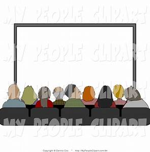 Clip Art of an Audience Sitting in Their Seats at the ...