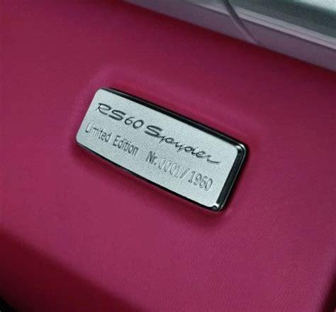 porsche boxster rs  spyder  cartype