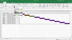 C U00f3mo Hacer Un Diagrama De Gantt En Excel