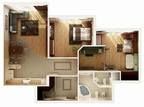 Two Bedroom Apartment Design Plans by 20 Interesting Two Bedroom Apartment Plans Home Design Lover