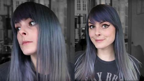 2b hair color dyeing my hair steel grey lunar tides dye review