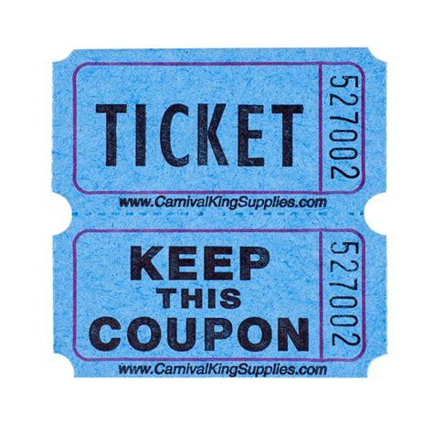 Blue Raffle Tickets