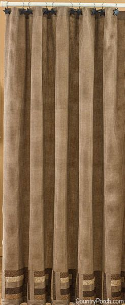 shades  brown shower curtain curtains rustic shower