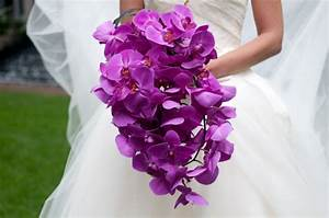 BOUQUET OF THE WEEK: A Cascade of Magenta Purple Orchids ...