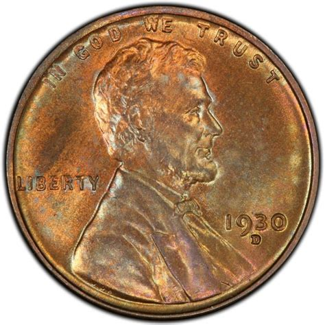 wheat pennies 1930 lincoln wheat pennies values and prices past sales coinvalues com