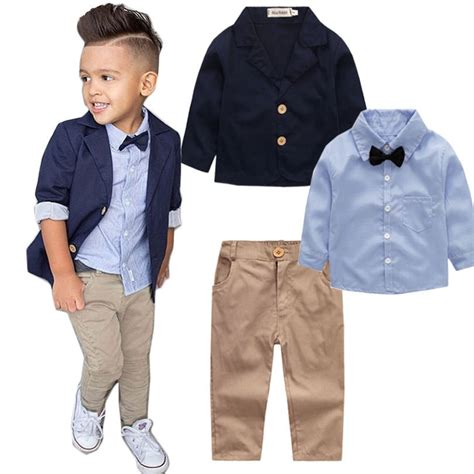 pc spring autumn boys clothing set   school outfit