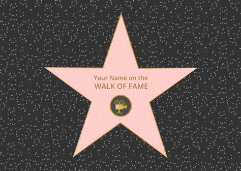 hollywood walk  fame vector   vector