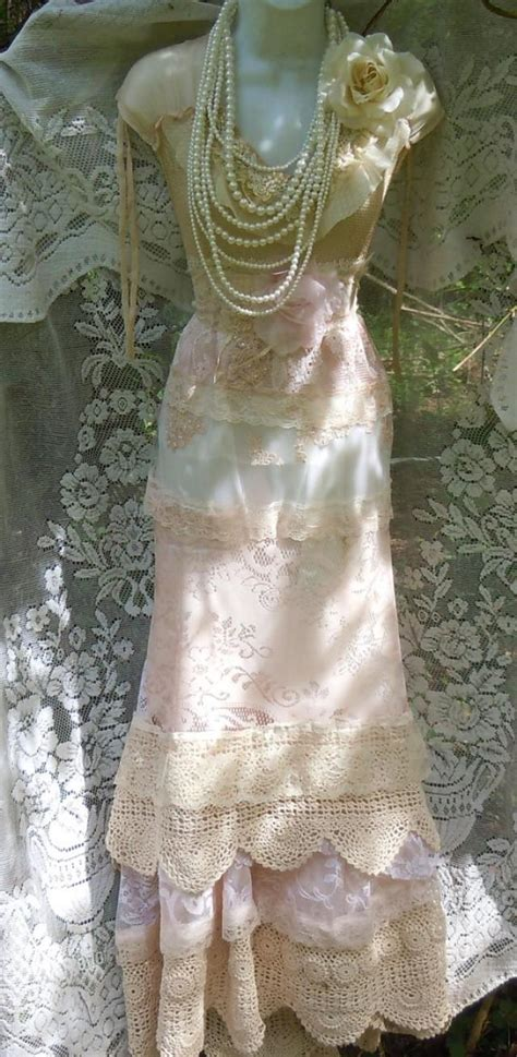 Vintage Opulence by Blush Wedding Dress Lace Crochet Mermaid Flapper Edwardian