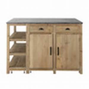 Ilot central en bois recycle l 145 cm pagnol maisons du for Meuble cuisine bois recycle 5 206lot central en bois recycle l 145 cm pagnol maisons du