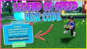 New Secret Code  Legends Of Speed Roblox