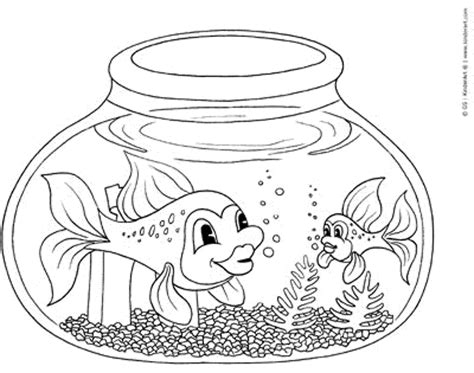 fish bowl coloring page printable coloring home