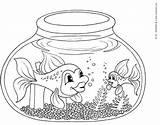 Fish Coloring Bowl Pages Fishbowl Printable Clipart Educative Template Kinderart Fisch Ausmalbilder Empty Clip Bestappsforkids Easy Popular Outline Getcoloringpages Library sketch template