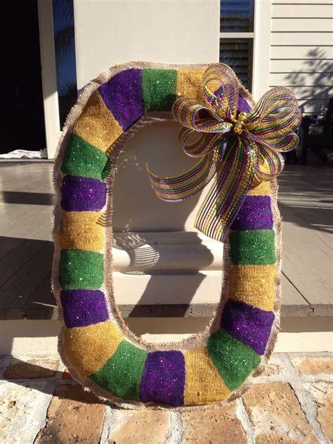 burlap mardi gras door decorations mardi gras kingcake burlap door hanger my burlap door
