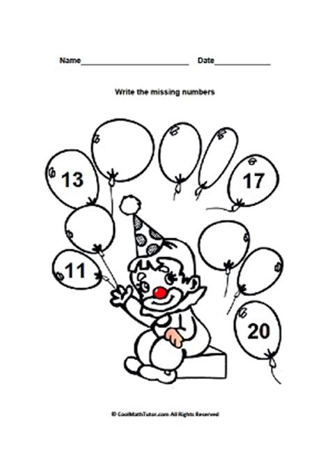 learn numbers 11 20 interactive and printable revision