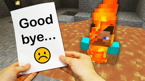 Realistic Minecraft  The End Of Steve 😢 Youtube