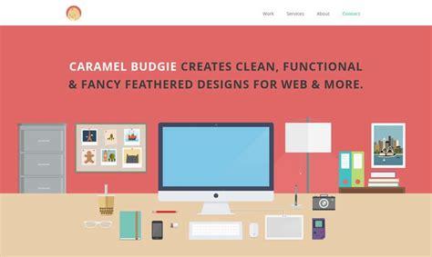inspiring examples  flat illustrations  web design