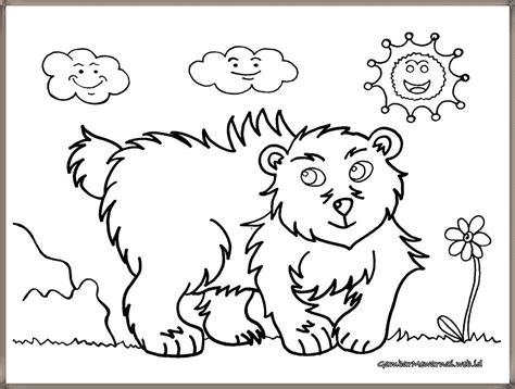 infonyaridwan gambar mewarnai anak gambar beruang