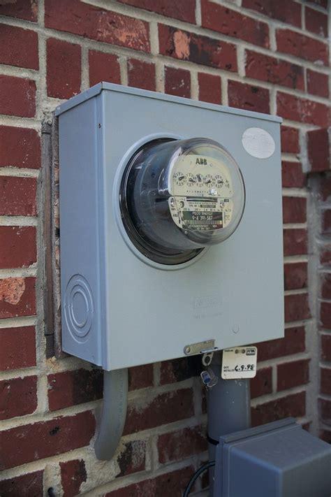 install  electrical meter pan hunker