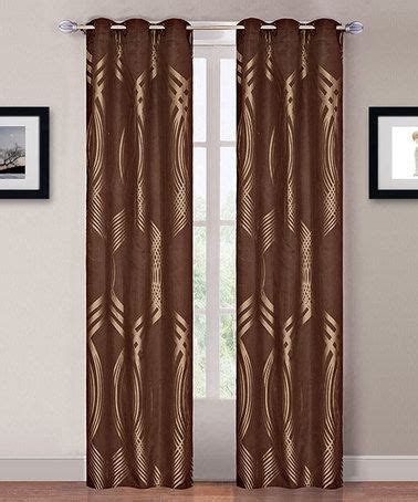 gold brown curtain panel set of two