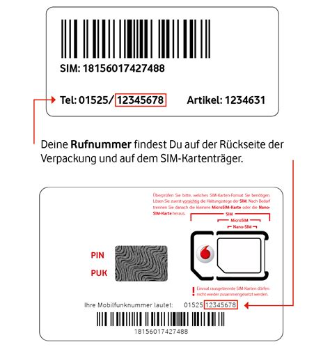 callya sim karte aktivieren und registrieren vodafone
