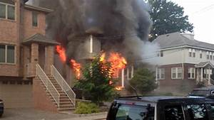 Police Rescue 3 From Roof Of Burning Cliffside Park Home