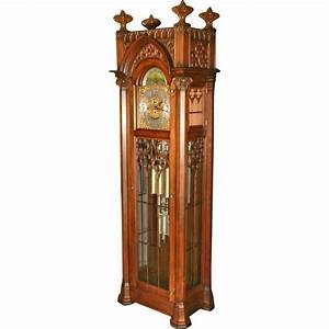 Gothic Grandfather Clock Mahogany Gothic Grandfather Clock ...