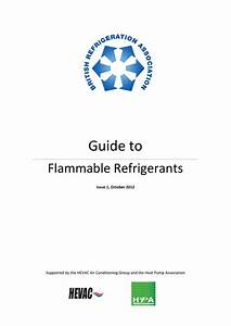 Bra Guide To Flammable Refrigerants Issue 1 Oct 12