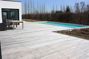 Bois Pour Terrasse Piscine : terrasse bois piscine hors sol plage de piscines enterr e ~ Edinachiropracticcenter.com Idées de Décoration