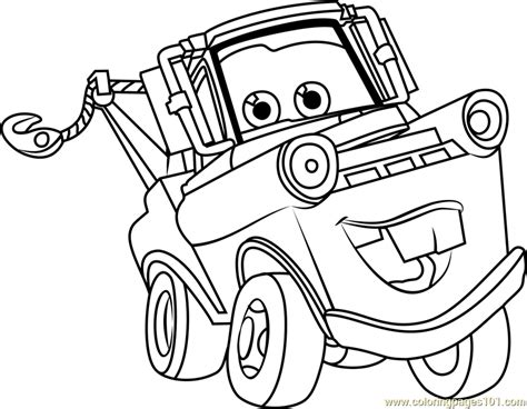 tow mater from cars 3 coloring page free cars 3 coloring