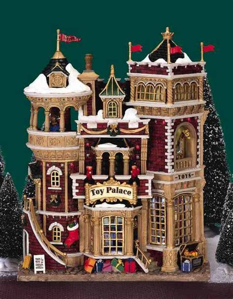 lemax christmas village facade toy palace battery