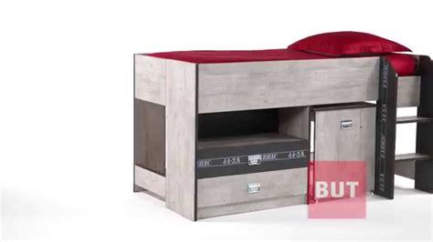 but bureau lit combin 233 bureau 90x190 cm authentique fabric but