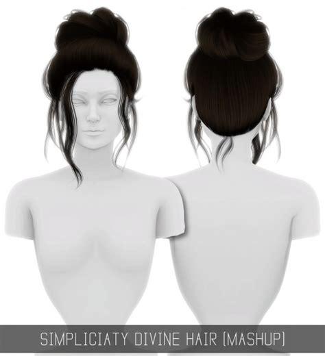 Sims 4 Hairs ~ Simpliciaty: Divine hair retextured