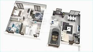 Plan De Maison 3d 150m2 Plan Maison Etage 3d Ra28  U2013 Trendmetr