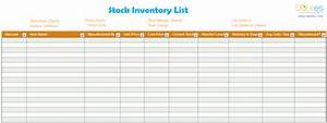 Inventory List Template  Excel  By Dotxes Com